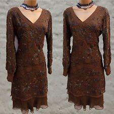 Designer Varun Bahl Hand Beaded Art Deco Boho Skirt and Top Suit Dress UK 10-12