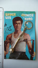 RARE - 1970s Bruce Lee Keychain, golden Monk's Scepter - SEALED