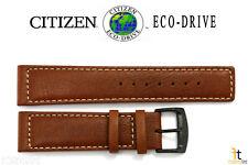 Citizen Eco-Drive BM8475-26E 22mm Brown Leather Watch Band Strap E101-S064783