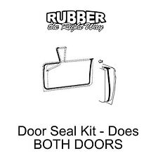 1959 Ford & Edsel Door Seal Kit - Both Doors - 2 DR HT / CONV / RETRACTABLE