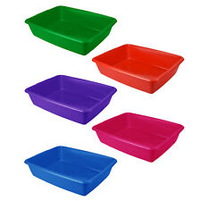 Large Litter Tray Cat Kitten Puppy Pet Toilet Potty Training Assorted Colours