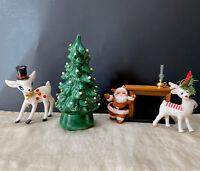 "Small Vintage 1978 Mold Green  Hand Made Ceramic Christmas Tree 7.5""Tall"