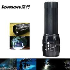 IPX-55 Waterproof Tactical 3000LM LED Clicky Flashlight Zoom Trombone Lamp Light