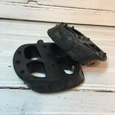 1994 Black Mongoose Stamped Platform Pedals 1/2 Shaft Opc Mid School Bmx