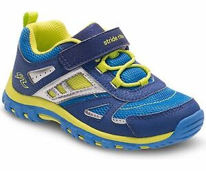 Striderite Boys Non-Tie Sneakers Blue/Lime Little Boys  Size 8 M