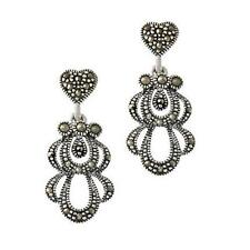 Marcasite Heat & Pressure Sterling Silver Fine Earrings