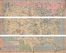 Old World Map ~ Edible Cake Topper ~ 1/4 Sheet Designer Strips!!! ~ D22417