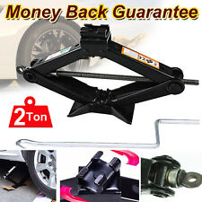 2 Ton Heavy Duty Scissor Jack Black Wheel Change Quick Lift Manual Car Van Tyre