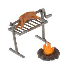 Maßstab 1/64 Garten BBQ Grill Miniatur Küche Kochutensilien