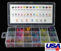 165 pcs Car FUSES Assortment Kit ATC / MINI / Low Profile / Mini Blade Fuse Auto