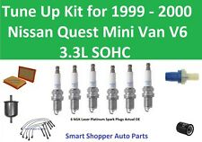 PCV Valve, Filter Wire Set, Spark Plugs Tune Up for 1999 2000 Nissan Quest MiniV