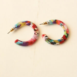New 3cm Baublebar C Hoop Earrings Fashion Women Party Jewelry 2Colors Available
