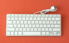 Genuine US English Apple A1242 Aluminum Wired USB Compact Keyboard (40YX)