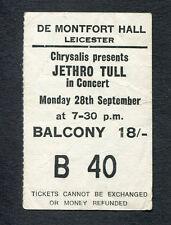 1970 Jethro Tull Procol Harum concert ticket stub Leicester UK Benefit