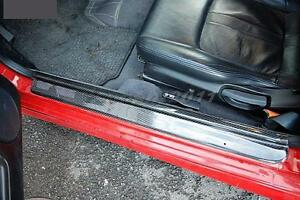 Carbon Door Sill/Plate 2PCS Fit For 95-98 Nissan S14 Zenki S14A Kouki