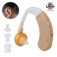 2PCS Digital Hearing Aid Aids Behind the Ear BTE Sound Voice Amplifier Audiphone