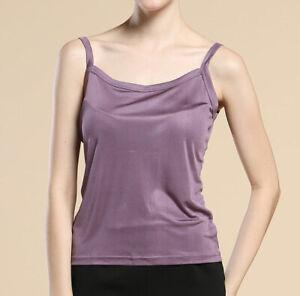 Heavy Weight Silk Knit Women'S Camisole Tank Top