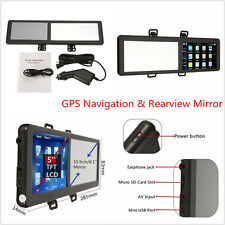 "5"" touch screen TFT da 8GB Bluetooth Auto Navigazione GPS MP3 MP4 FM Specchietto retrovisore"