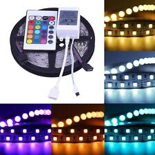 5M 5050 RGB SMD 300 LED Non-waterproof Change Color 12V Light Strip 24Key Remote