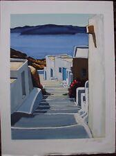 Jean Claude QUILICI - Lithographie signée lithograph Greece Grèce Mykonos 2