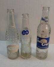 Lot of 3 Vintage Soda Bottles - Bireley's Sun Crest Nesbitt's - Soft Drink Pop