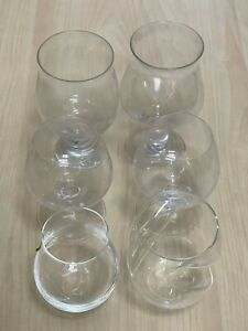 Vintage Mixed 6pc White Red Wine Beer Lager Rum Liquor Gin and Tonic Glasses Set