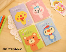 4 PCS Korean Stationery Cute Kimono Happy Animal Diary/Notepads/Notebooks