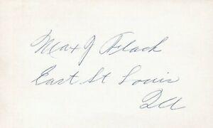 Max Flack 1914 Chicago Cubs (Dec. 1975) Signed 3x5 Index Card with JSA COA