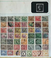 Malaya Federated State used stamps on Page -Tiger, Mosque, Postage Due