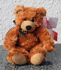 18cm Russ Berrie da collezione orso con collo piccolo marrone CE orsacchiotto