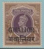 INDIA GWALIOR 113 MINT NEVER HINGED OG ** NO FAULTS EXTRA FINE !