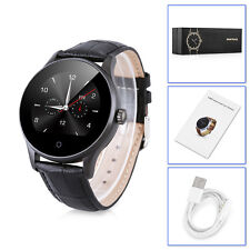 Waterproof Heart Rate Bluetooth Smart Watch Phone Mate For iOS Android Leather