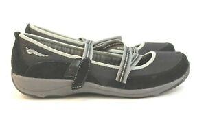 Dansko Black Mary Jane Suede Strap Clog Sneaker 4504020200 Womens Size US 9.5 /