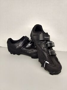 Serfas Saddleback Cycling Shoes Size 9.5 Black Hook and Loop Closure