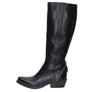 Women's shoes MOMA 7 (EU 37) boots black leather BJ683-37