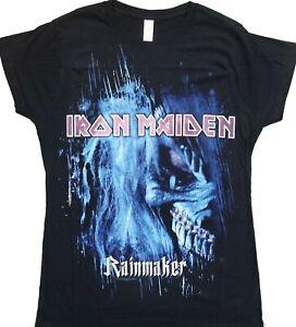 IRON MAIDEN – new & official ladies T-shirt 'Rainmaker' Eddie, size L