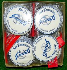 1950s San Francisco Giants Drink Coasters Unopened Vintage Made Japan - 2 Packs