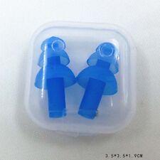 New listing 1 Pair Swimming Waterproof Earplugs Silicone Soft Swim Ear Protector New Blue