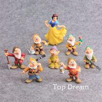 New The Seven Dwarfs & Snow White Princess Cake Topper Action Figure Toys Set 8