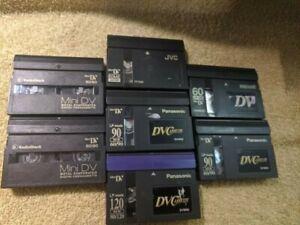 DV Mini Cassettes - Lot of 7 - Used