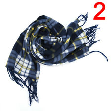 Stylish Wool Blend Women&Men Geometric Plaid Wrap Winter Warm Fleece Scarf.ShaEB