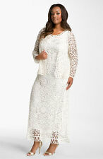 NWOT ivory  Soulmates Crochet Dress with Jacket  size M