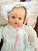 "MME Alexander baby doll, 10.5"" tall, Composition, Cloth w/ Sleep Eyes"
