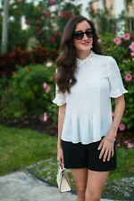 Kate Spade White Pearl Collar Shirt,Top Blouse Size Small S
