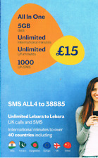 Lebara mobile Pay As You Go Multi Sim - Low Cost International Calls, SMS + Data