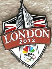 2012 London NBC Television Big Ben Olympic Media Pin New in Package