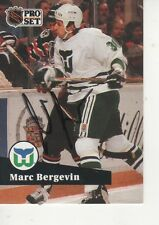 MARC BERGEVIN SIGNED 1991 PROSET #397 - HARTFORD WHALERS