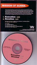 MISSION OF BURMA Execution /Devotion PROMO DJ CD Single