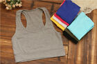 Sleeveless Hot Tank Athletic 1PC Yoga Racerback Tube Cropped Sport Bra Top