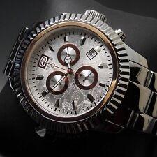 Runde polierte Quarz - (Batterie) Armbanduhren aus Silber